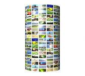 Multimedia pillar isolated on white — Stock Photo