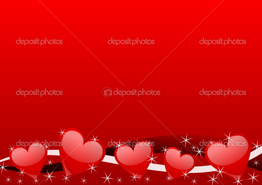 Valentines background with hearts — Stock Photo #2053921
