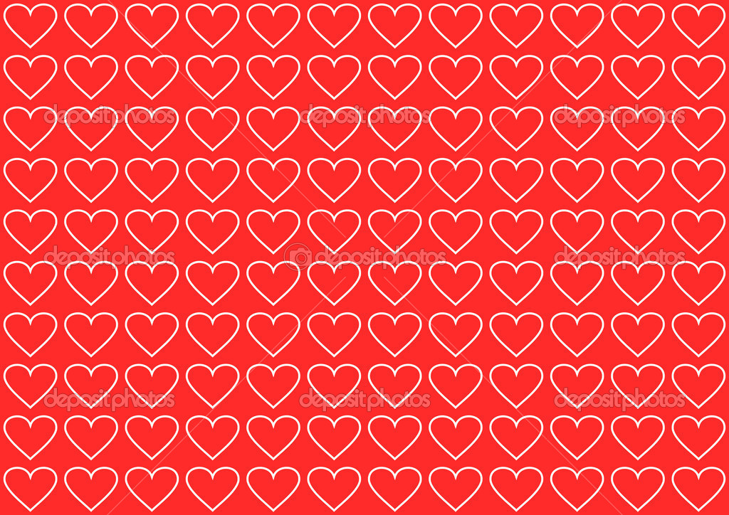 Valentines background with hearts — Stock Photo #2053988