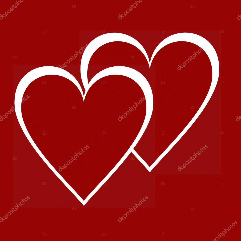 Two hearts — Stock Photo #2054872