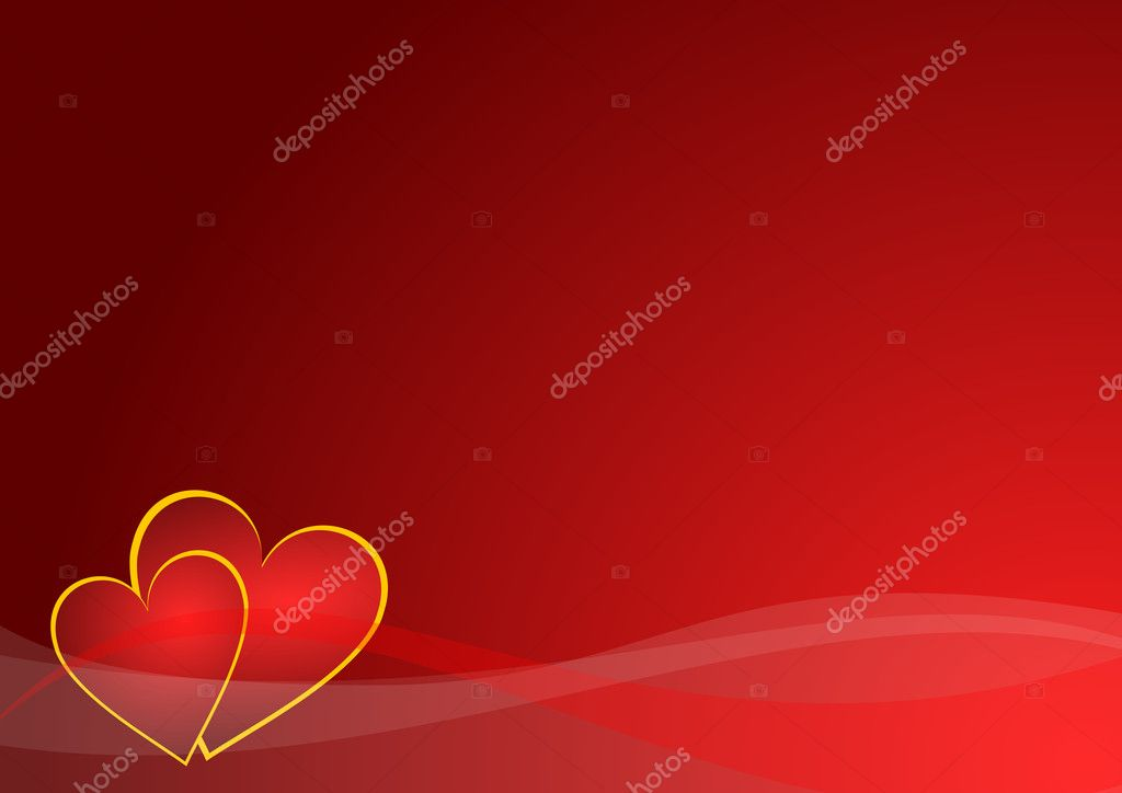 Valentines background with hearts — Stock Photo #2055205