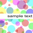 Pastel circles background - Stock Photo