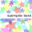 Pastel stars background — Stock Photo