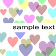 Pastel hearts background — Stock Photo