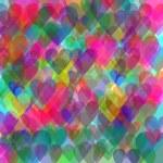 Pastel hearts background — Stock Photo