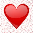 Valentines background with heart — Foto de Stock