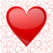 Valentines background with heart - Foto de Stock