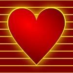 Валентина фон с сердцем — Стоковое фото
