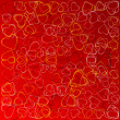 Valentines background with hearts — Stock Photo