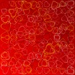 Valentines background with hearts — Stock fotografie
