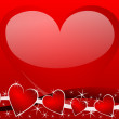 Valentines background with heart — 图库照片