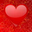 Valentines background with heart - Stock Photo