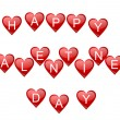Valentines background with hearts — Foto de Stock