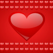Valentines background with hearts - Stock Photo