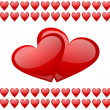 Valentines background with hearts — Stockfoto