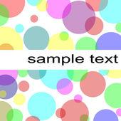 Pastel circles background — Stock Photo