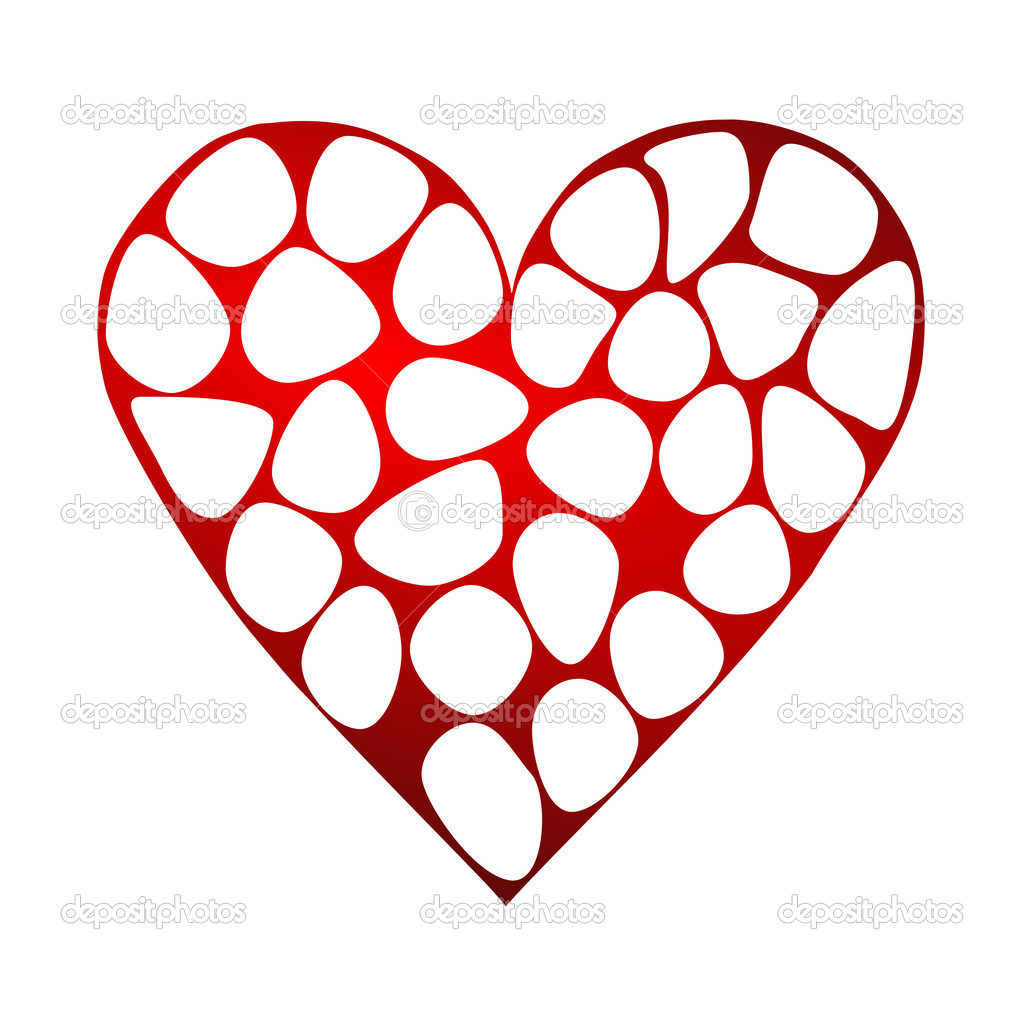 Valentines background with heart — Foto Stock #2078448