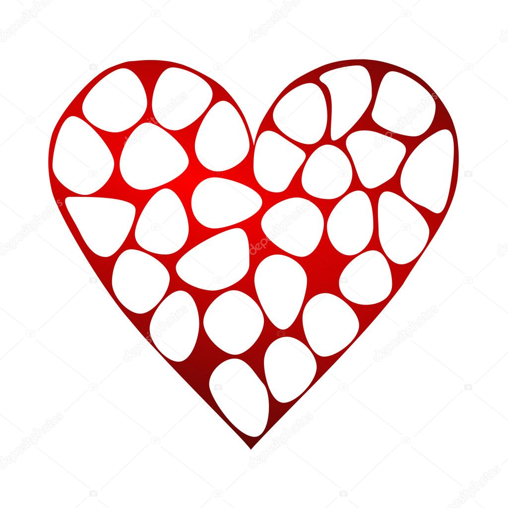 Valentines background with heart — Stok fotoğraf #2078448