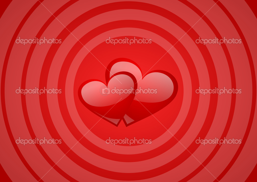 Valentines background with hearts — Stock Photo #2079057