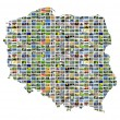Stock Photo: Collage map of poland
