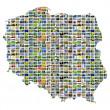 Collage map of poland — Stock Photo
