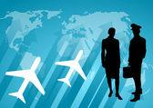 International communication background — Stock Photo