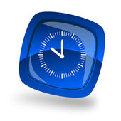 Clock internet button — Stock Photo