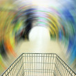 Shopping in supermarket - Stock Photo