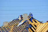 Männer auf dach — Stockfoto