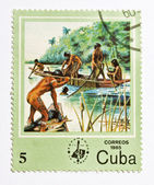 Stamp from Cuba — Stockfoto