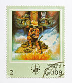 Stamp from Cuba — Foto de Stock