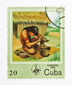 Stamp from Cuba — Photo