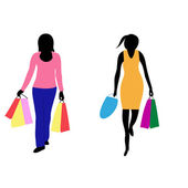 Womans with bag — Stock Vector