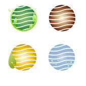 Symbole de la terre, société logo — Vecteur