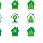 Eco green house — Stock Vector
