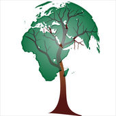 ECO GREEN TREE EARTH — Stock Vector