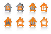 Family house symbols for design — Stock Vector