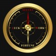 Royalty-Free Stock Imagen vectorial: Bright success golden Compass
