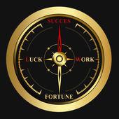 Bright success golden Compass — Stock Vector