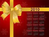 Illustrazione di 2010 calendario regalo fiocco — Vettoriale Stock