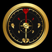 Bright success golden Compass — Vector de stock