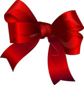 Bright red gift bow — Vector de stock