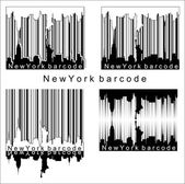 New York barcode — Stock Vector