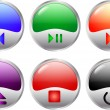 Multimedia buttons — Stock vektor