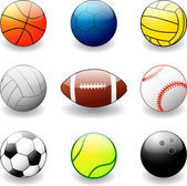 Sport bollar — Stockvektor