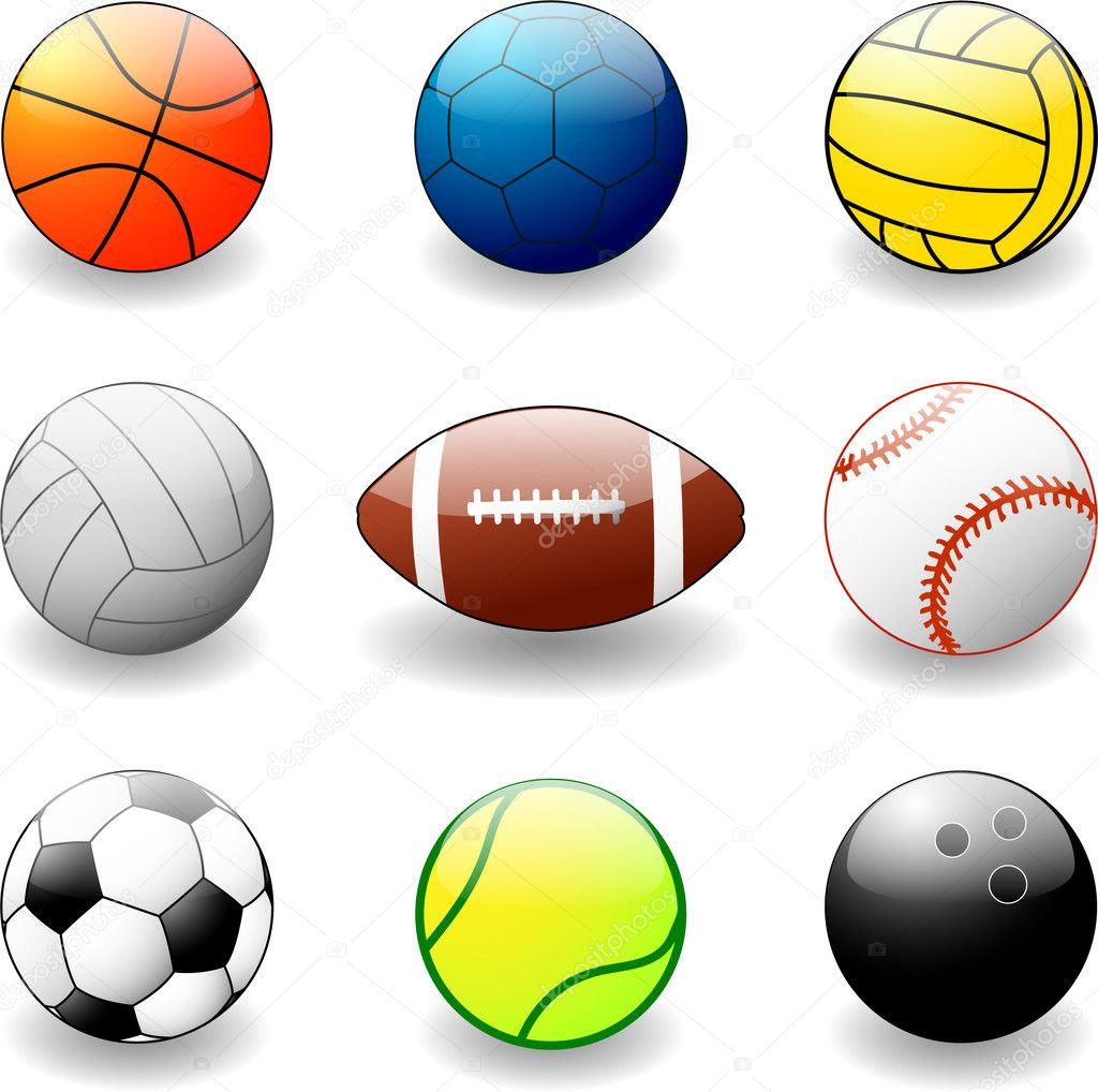 Collection of sport balls - vector illustration — Stock Vector #1980228