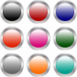 Stock Vector: Colorful glossy buttons