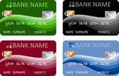 Carte di credito — Vettoriale Stock