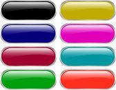 Botones web brillante — Vector de stock