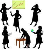 Donna d'affari — Vettoriale Stock